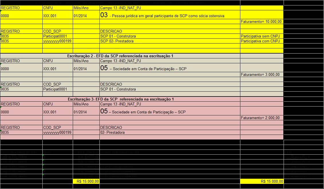 registro da empresa em demonstração das SCP's em que ela é sócia ostensiva